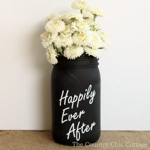 Chalkboard Mason Jar Vase for Weddings