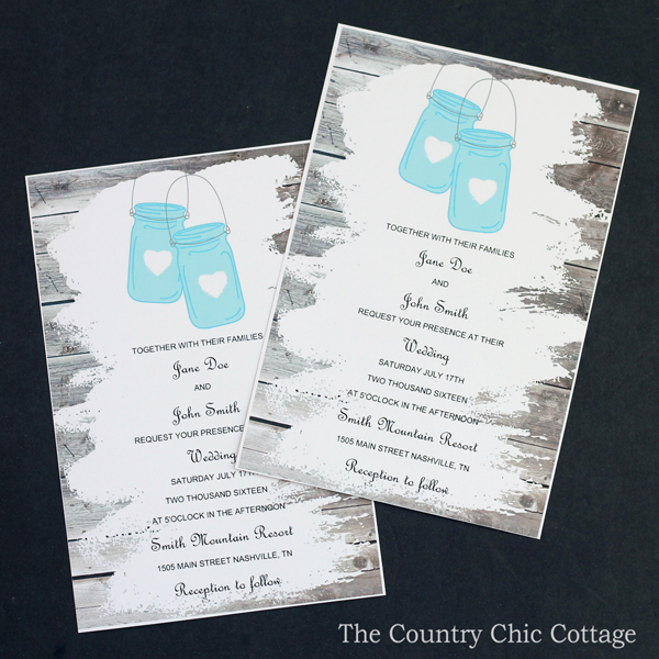 Wedding invitations that you can print for FREE and customize to your event! See more here and use these for your wedding or bridal shower!