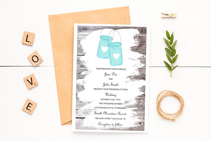 free printable rustic wedding invitations