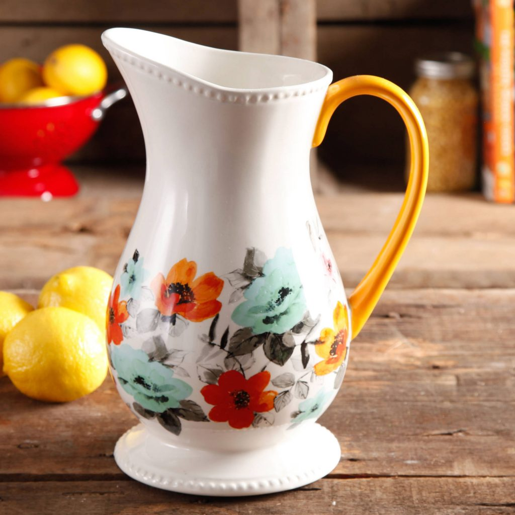 pioneer woman floral pitcher