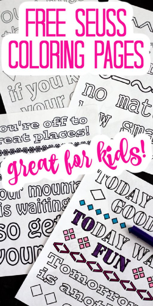 seuss free printables