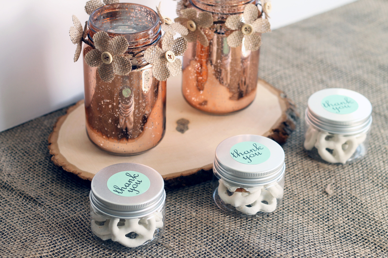 Small Jars Wedding Favors In The Country Chic Cottage Personalized Gl Mason