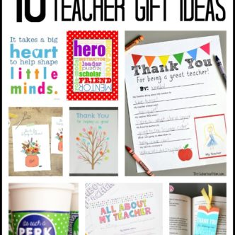 Teacher Gift Ideas: Free Printables