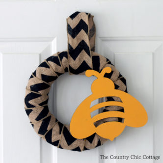 Burlap Bee Spring Wreath