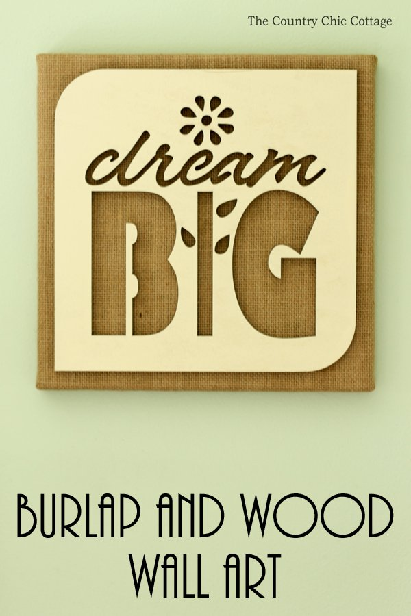You can make this burlap wall art in just minutes! Uses a wood cutout and is perfect for tweens, teens, and even teachers!