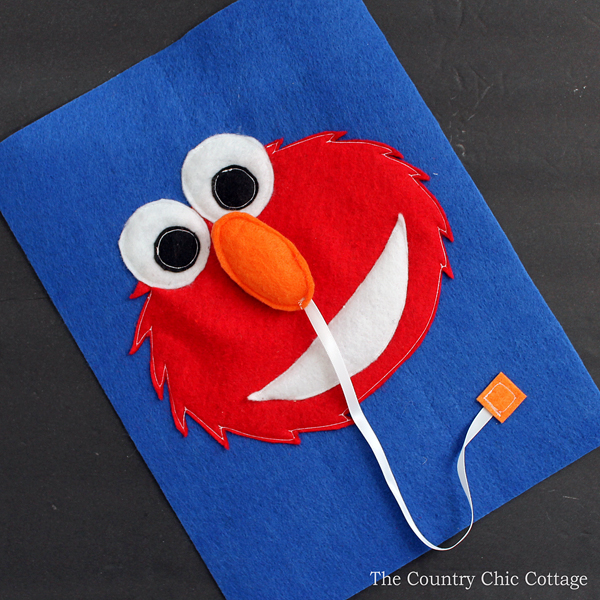 Elmo busy book page the country chic cottage for Elmo arts and crafts