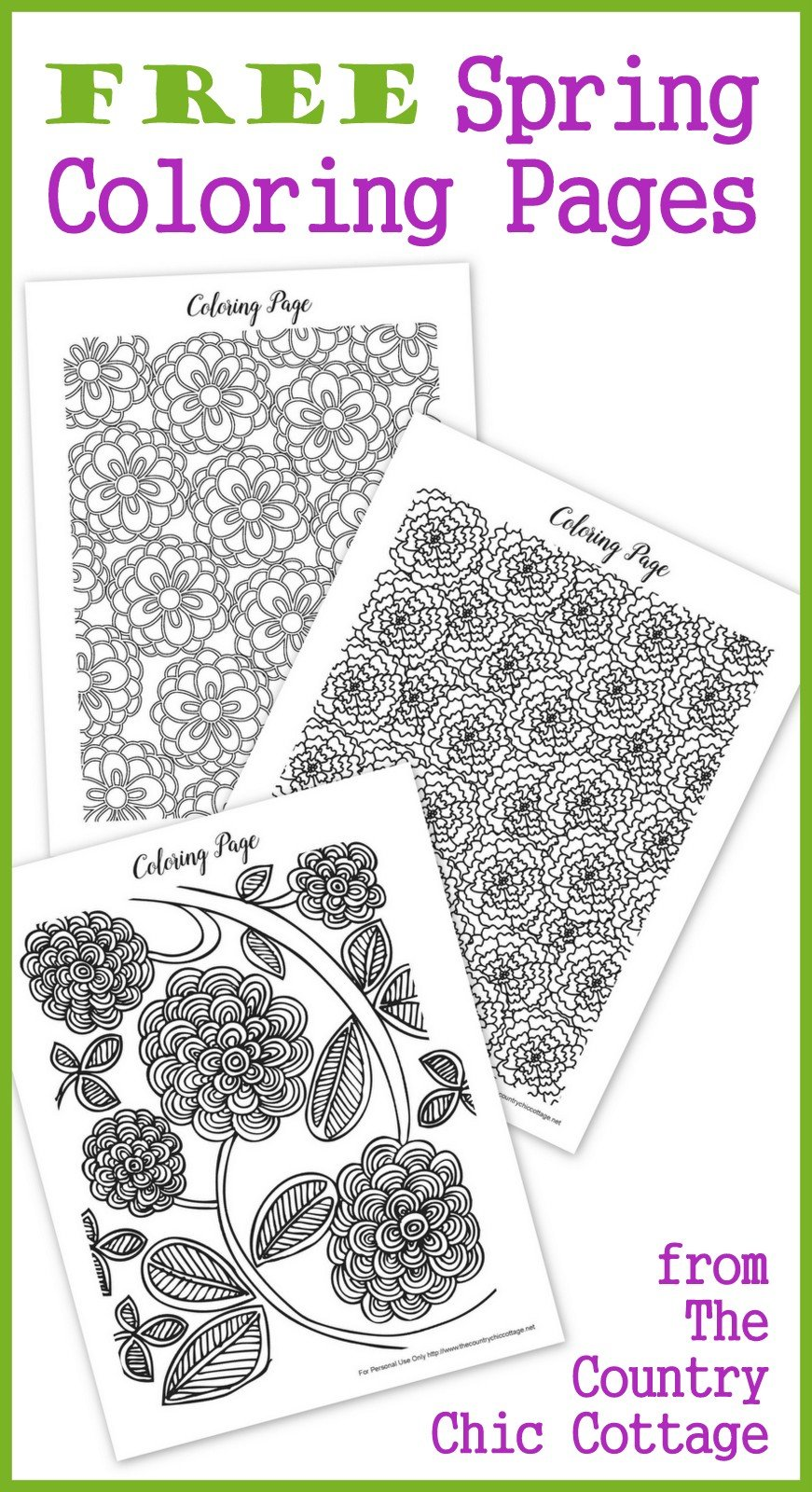 graphic about Spring Coloring Sheets Printable identified as Free of charge Spring Coloring Webpages for Grownups - The Nation Stylish Cottage