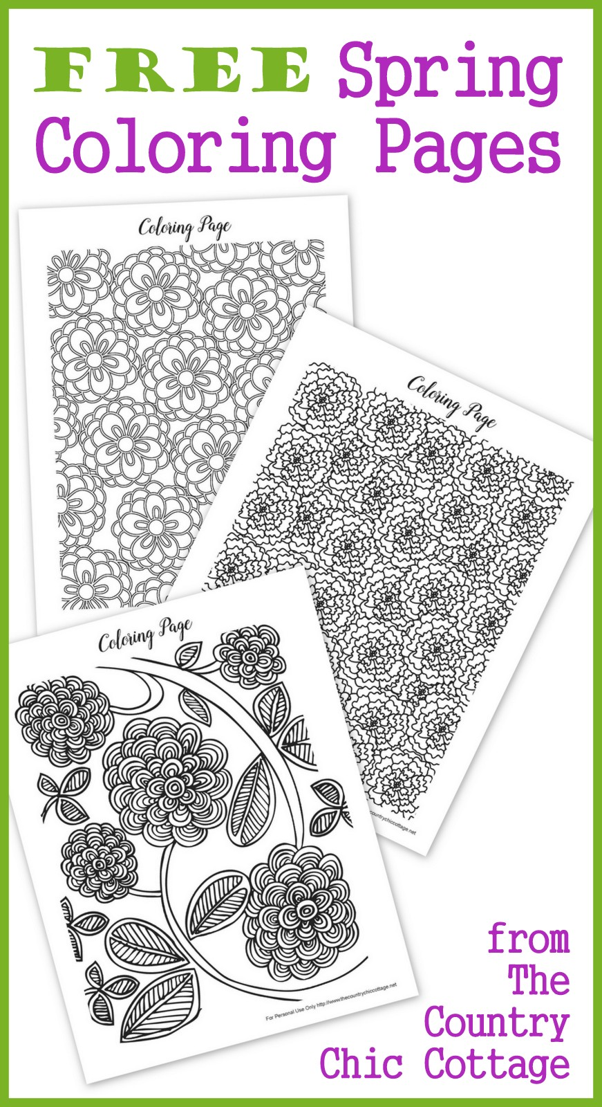 Free coloring pages spring flowers - Free Spring Coloring Pages For Adults