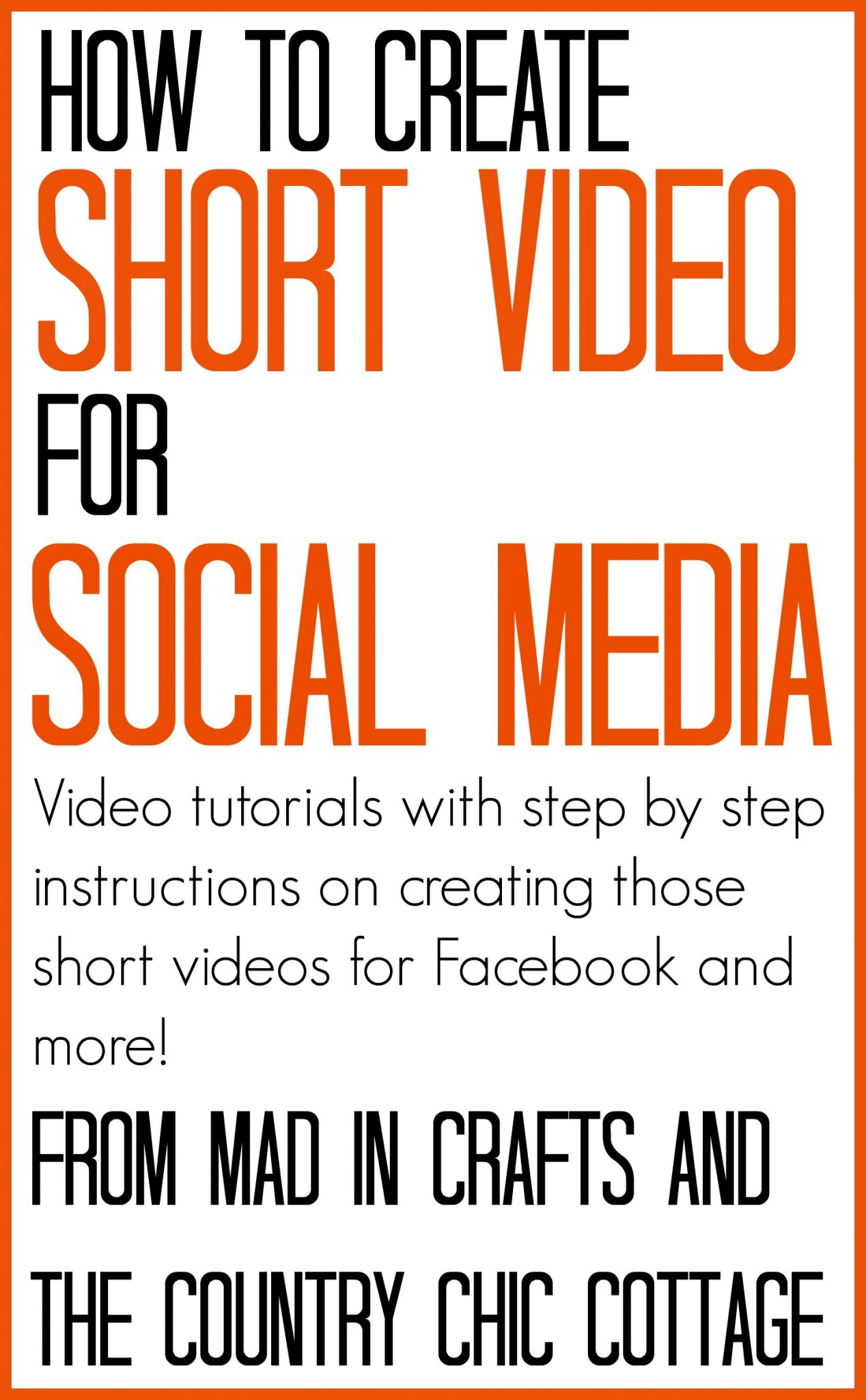 Learn how to create short video for social media with these great tools! Step by step videos explaining the entire process!