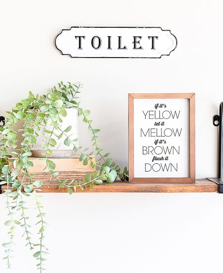 if its yellow let it mellow bathroom art