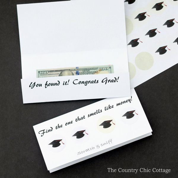 Make your own graduation card with this simple method! A scratch and sniff graduation card can be made in minutes with these free printables and instructions!