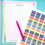 Printable Planner Page To-Do- List designed by Jen Goode