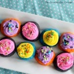 Make these spring cake mix cookies for your family! A delicious recipe that is only 4 ingredients and super easy to make!