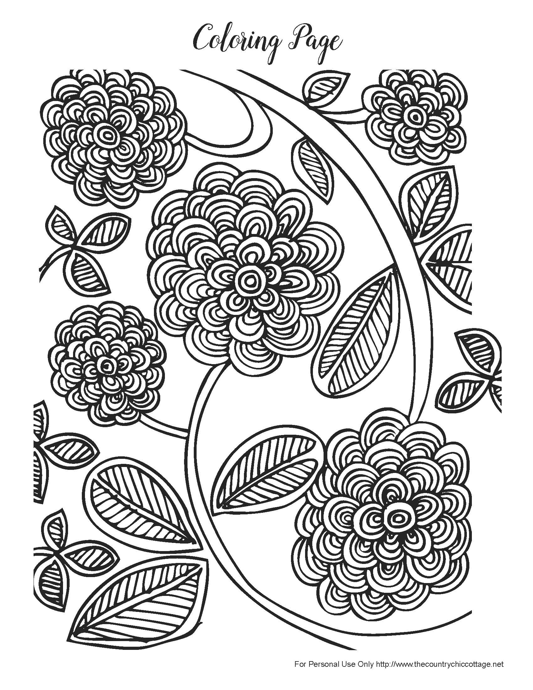 It's just a graphic of Sizzling Printable Coloring Pages for Adults Flowers