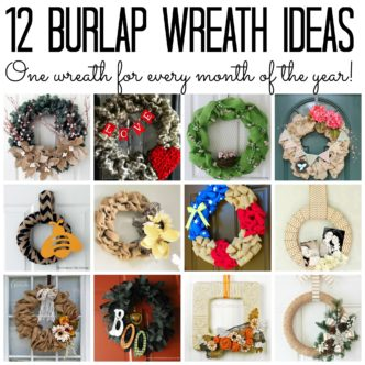 Burlap Wreaths – 12 ideas for every season!