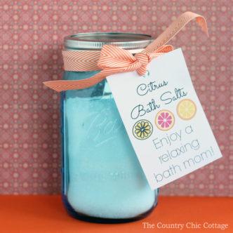 Citrus Bath Salts Gift in a Jar