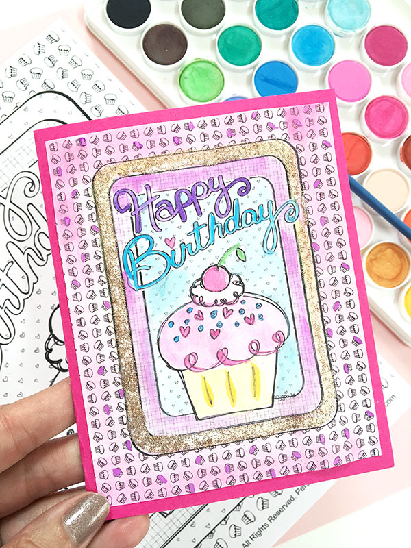 DIY Happy Birthday Cupcake Card by Jen Goode