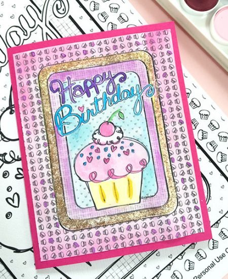 DIY Birthday Card - Make a birthday card with a coloring page