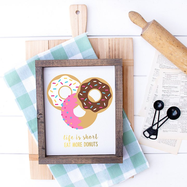 life is short eat more donuts art