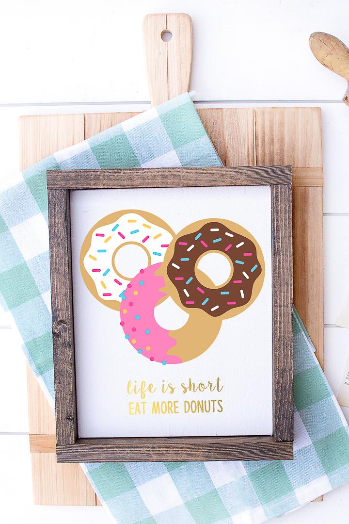 framed donut art
