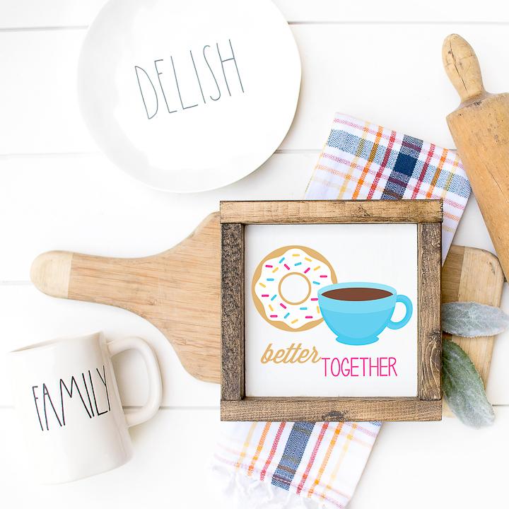 better together donut printable