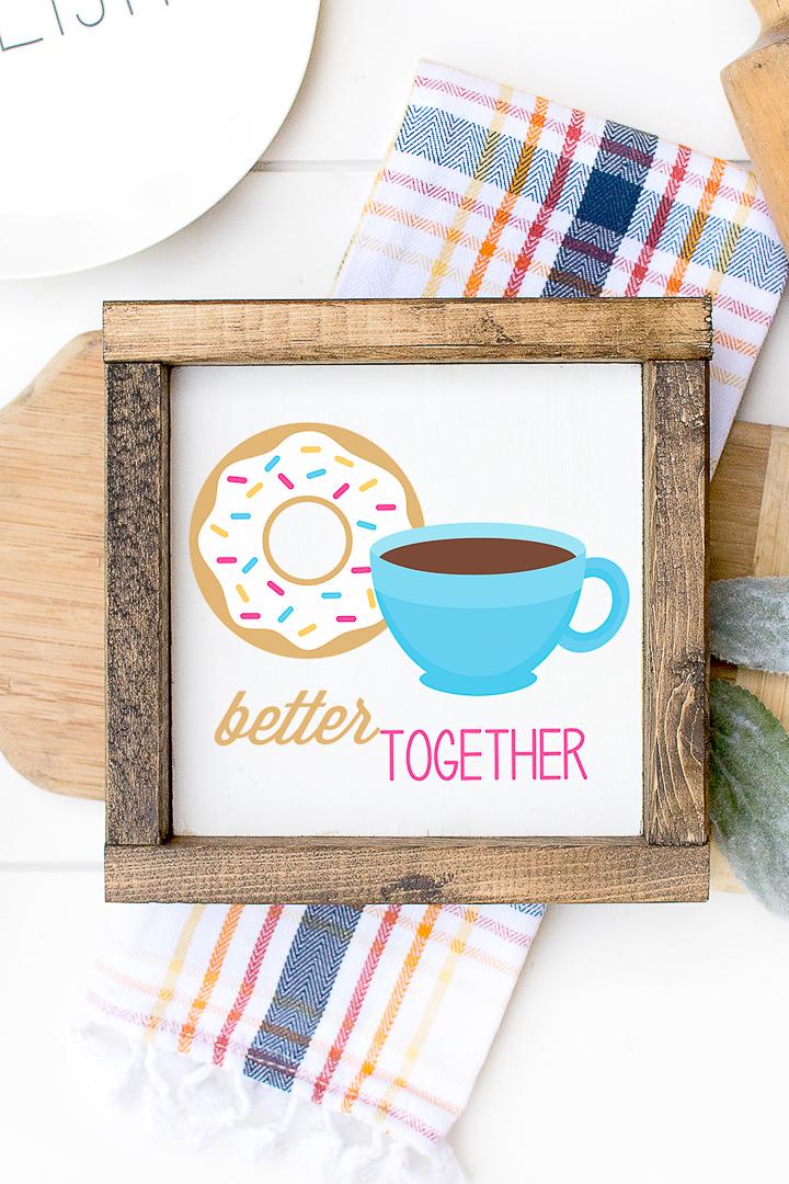 better together donut kitchen art