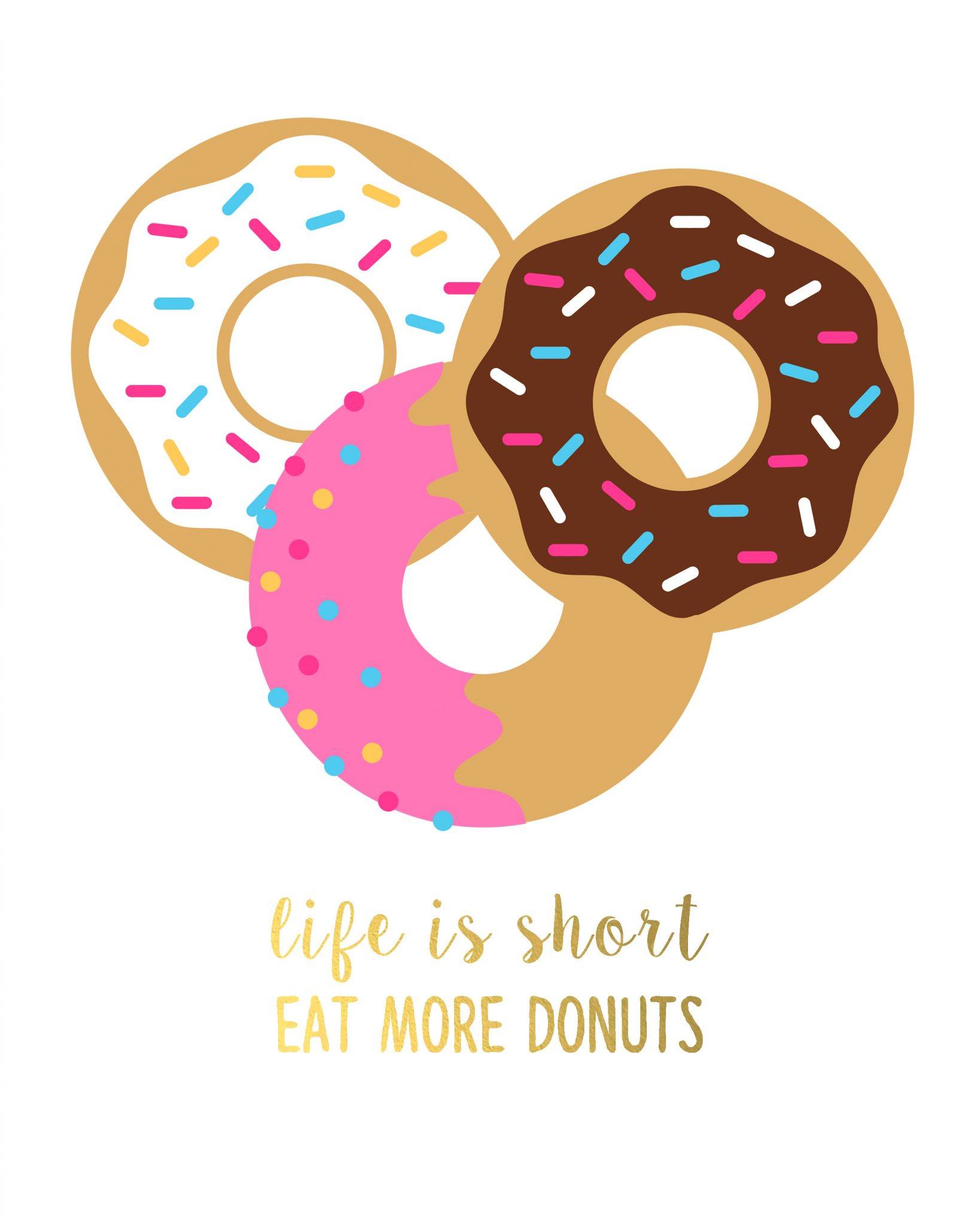 photo relating to Donut Printable titled Cost-free Printable Artwork (with Donuts!) - The Region Stylish Cottage