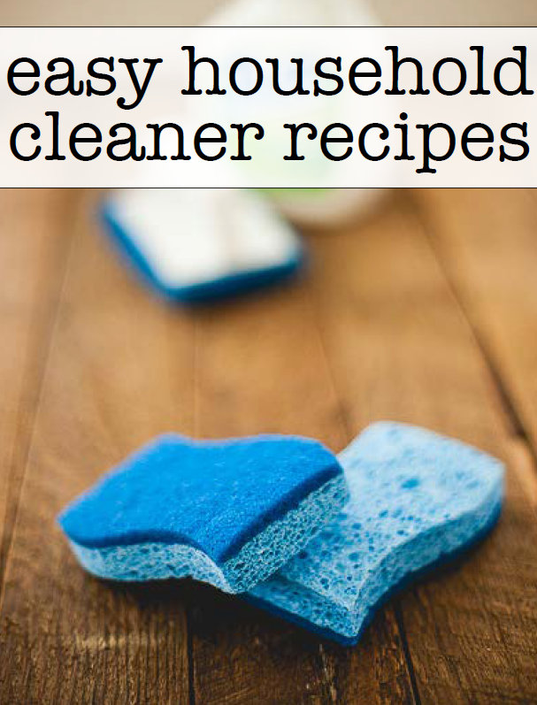 Easy Household Cleaner Recipes - a free book download to keep on hand at all times! Great cleaner recipes that use supplies in your pantry!