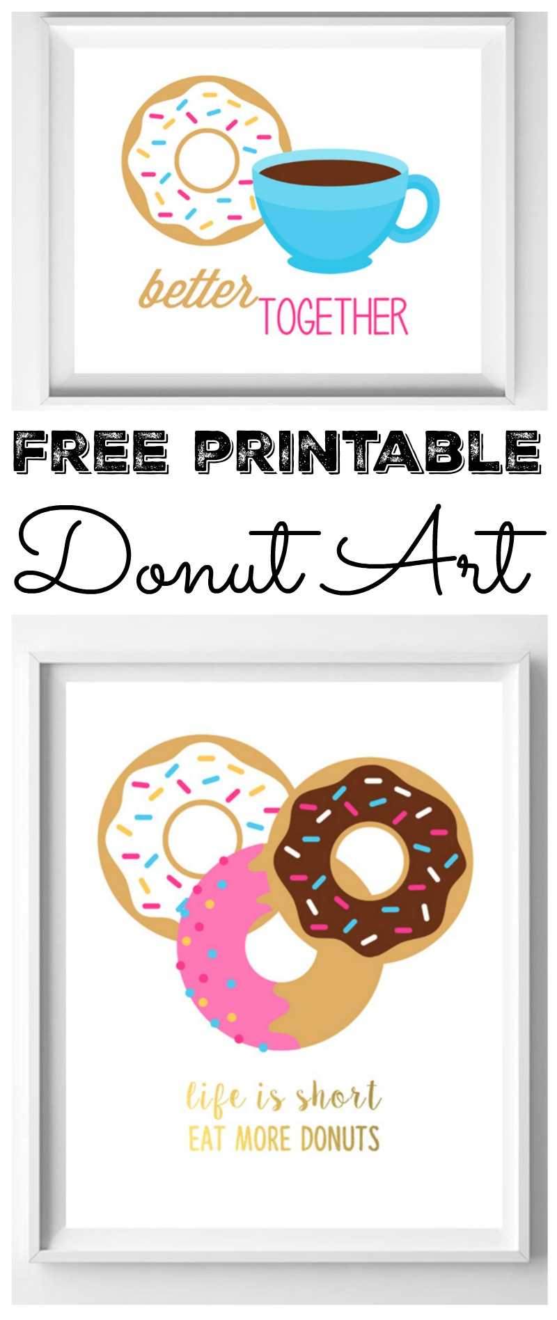 image about Donut Printable referred to as Absolutely free Printable Artwork (with Donuts!) - The Region Stylish Cottage