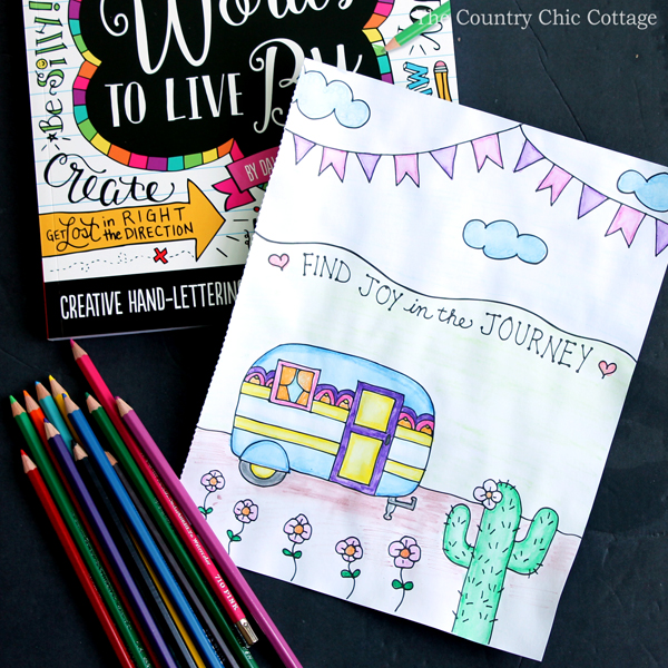 How to Use Watercolor Pencils - The Country Chic Cottage