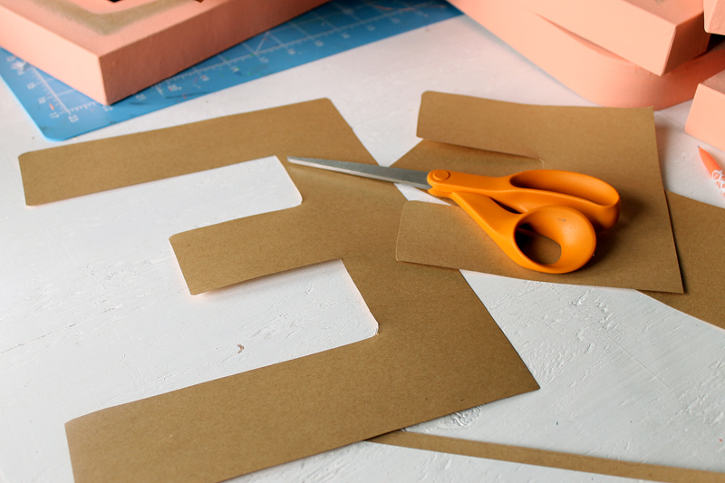 Make some metallic paper crafts with these DIY metallic letters. Yes you can buy paper that has a metallic sheen and cover monogram letters for your home!
