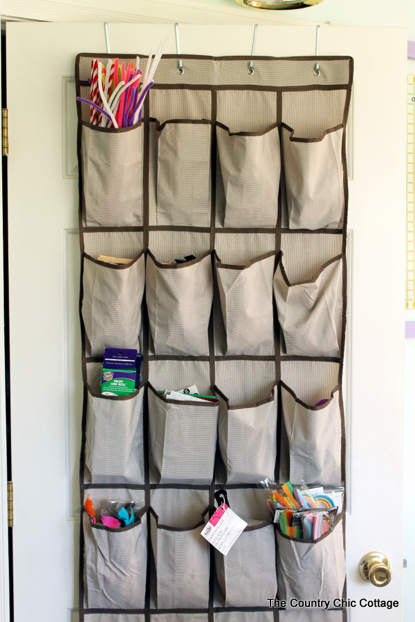 Storage Ideas: Using the back of the door for storage and organization in any home or apartment.