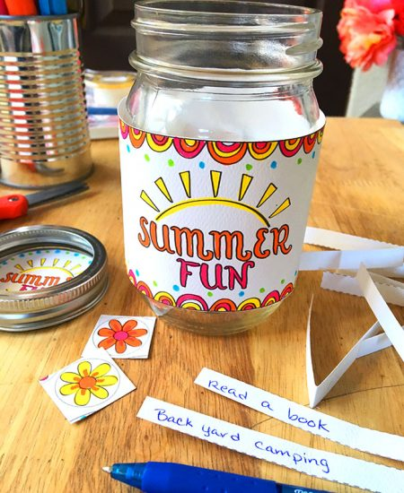Create a jar for summer fun ideas - so easy!