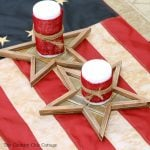 Great Fourth of July party decor ideas! A quick and easy idea if you love rustic decor on the 4th of July!