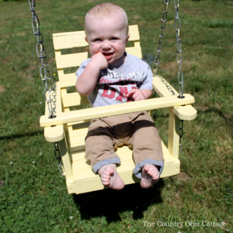 Wood Baby Swing Refinish