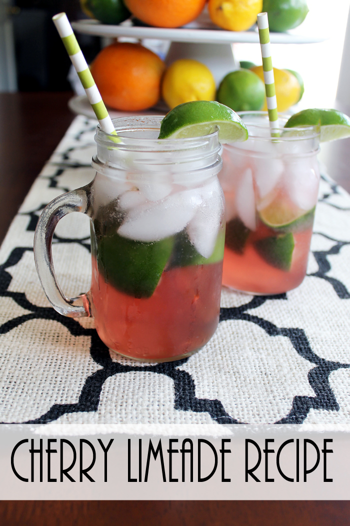 Make your own cherry limeade with this great recipe! A refreshing summer drink!