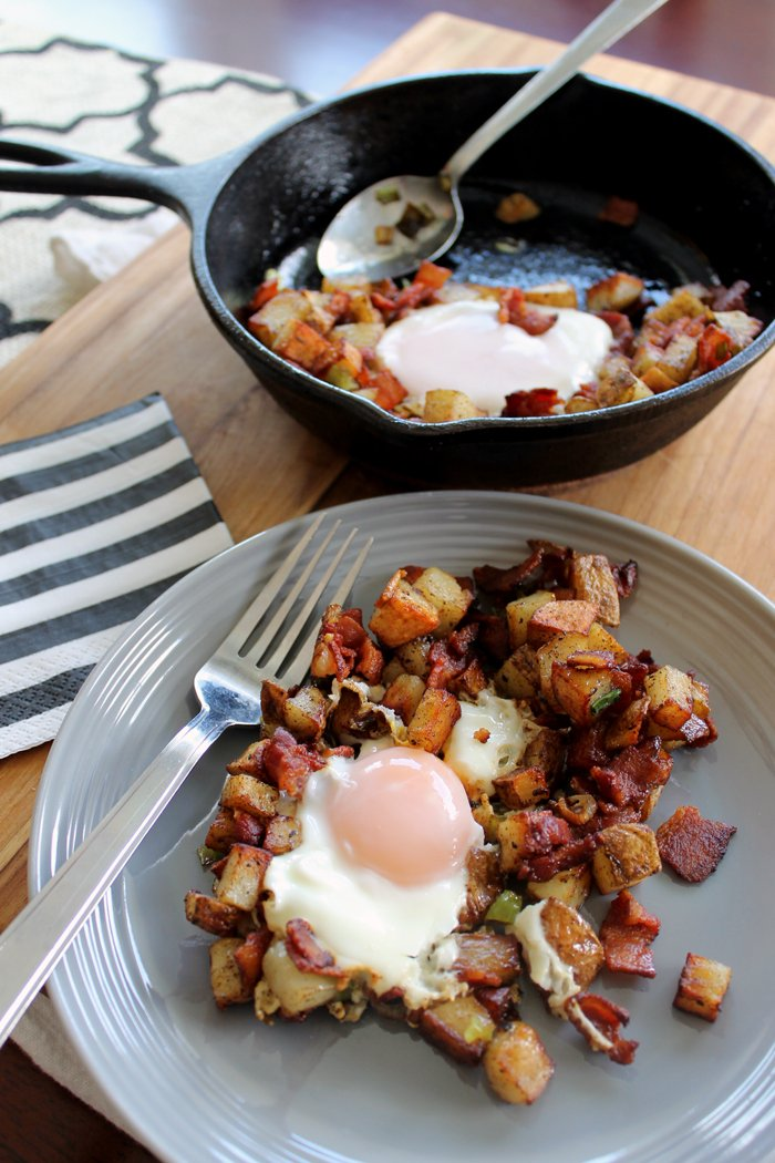 This delicious breakfast skillet is easy to put together for a hearty breakfast