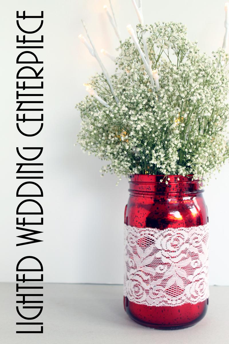 Mason Jar Wedding Centerpiece - The Country Chic Cottage