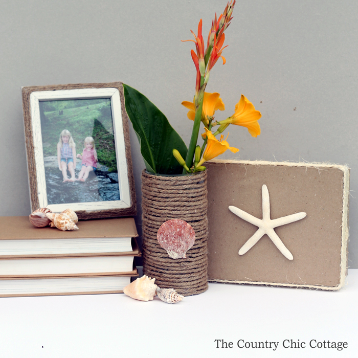 Love these nautical decor ideas for using rope to make your own summer home decorations!
