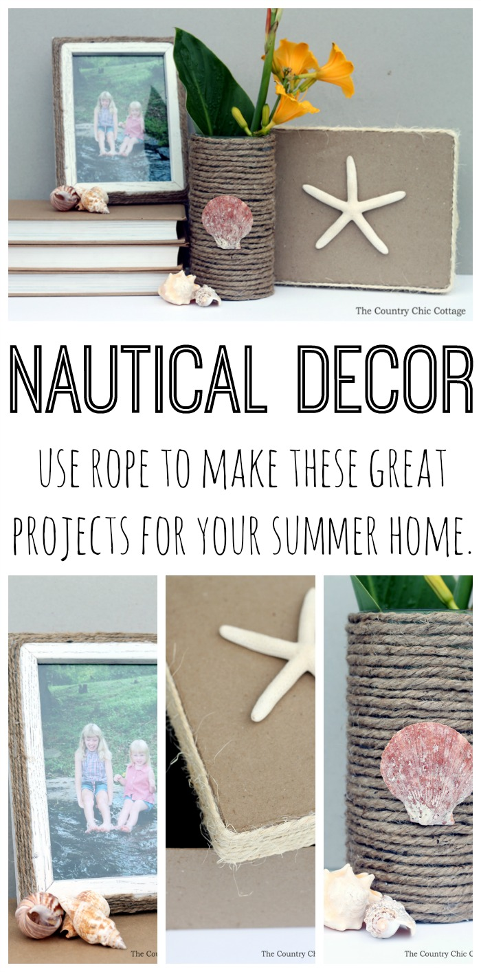 Nautical Decor Nautical Decor Using Rope The Country Chic Cottage