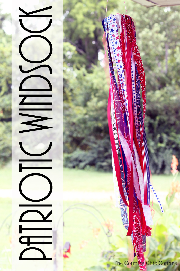 This fun patriotic windsock is a great kids craft idea! You can use your scraps from other projects to make something fun with the kids this summer!
