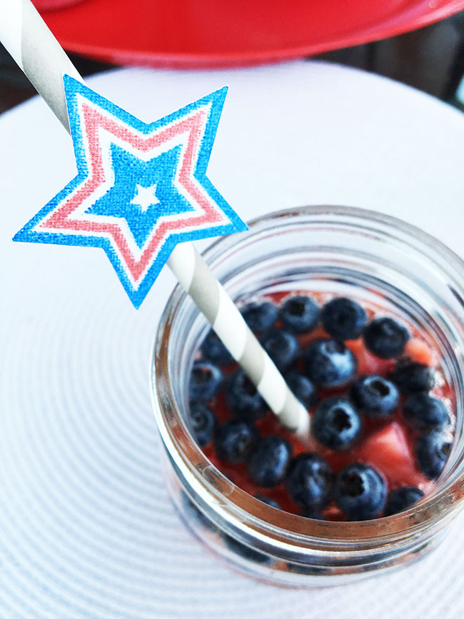 Printable stars for decorating your drinks