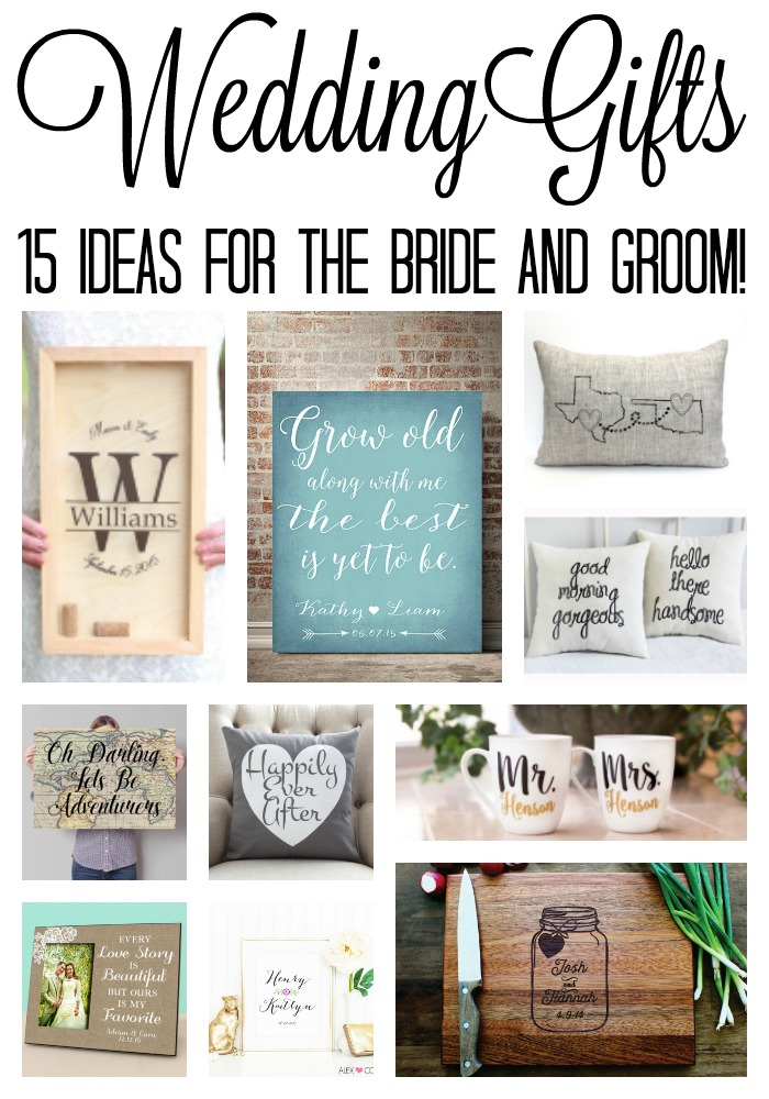 Day Of Wedding Gifts For Bride Suggestions : Great wedding gift ideas for the bride and groom! Perfect for bridal ...