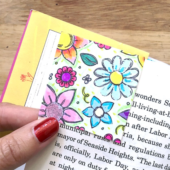 Make a corner bookmark