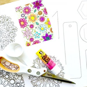 Make bookmarks with your coloring pages