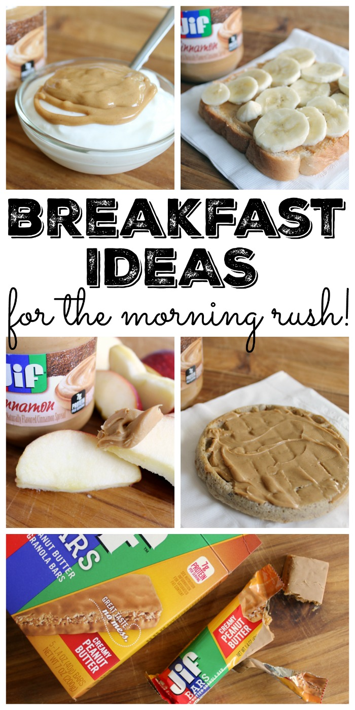 Get breakfast ideas that are perfect for the morning rush! Five ideas that you might not have thought of!
