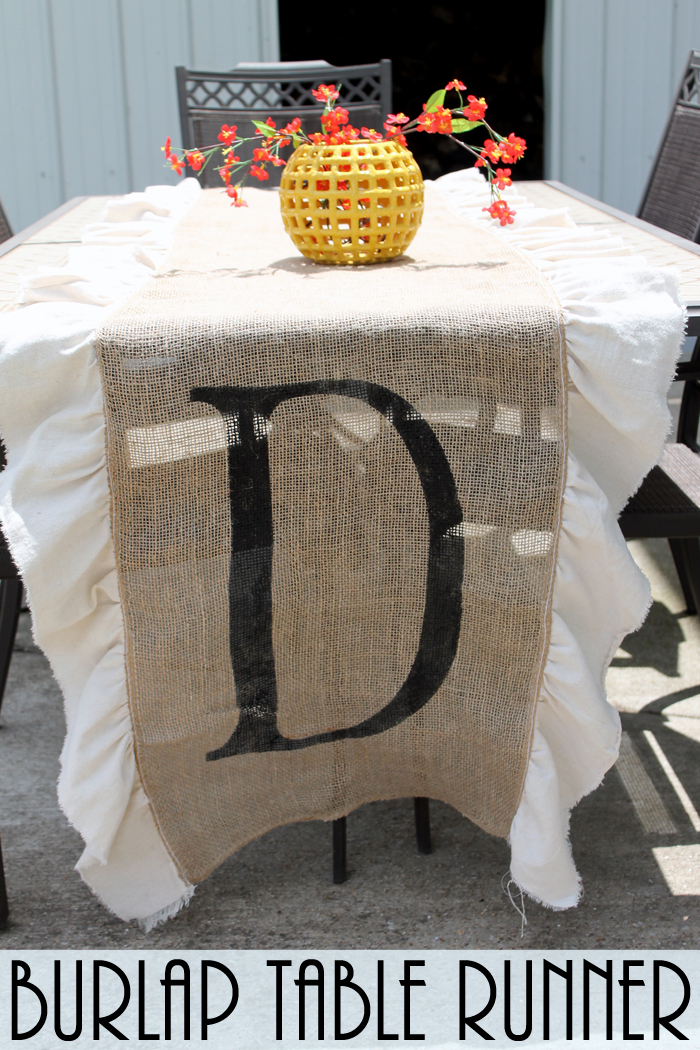 Diy Burlap Table Runner The Country Chic Cottage