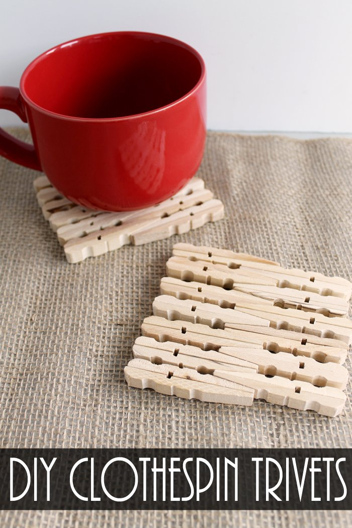 Make these DIY clothespin trivets for your home! A great craft for kids or scout groups!