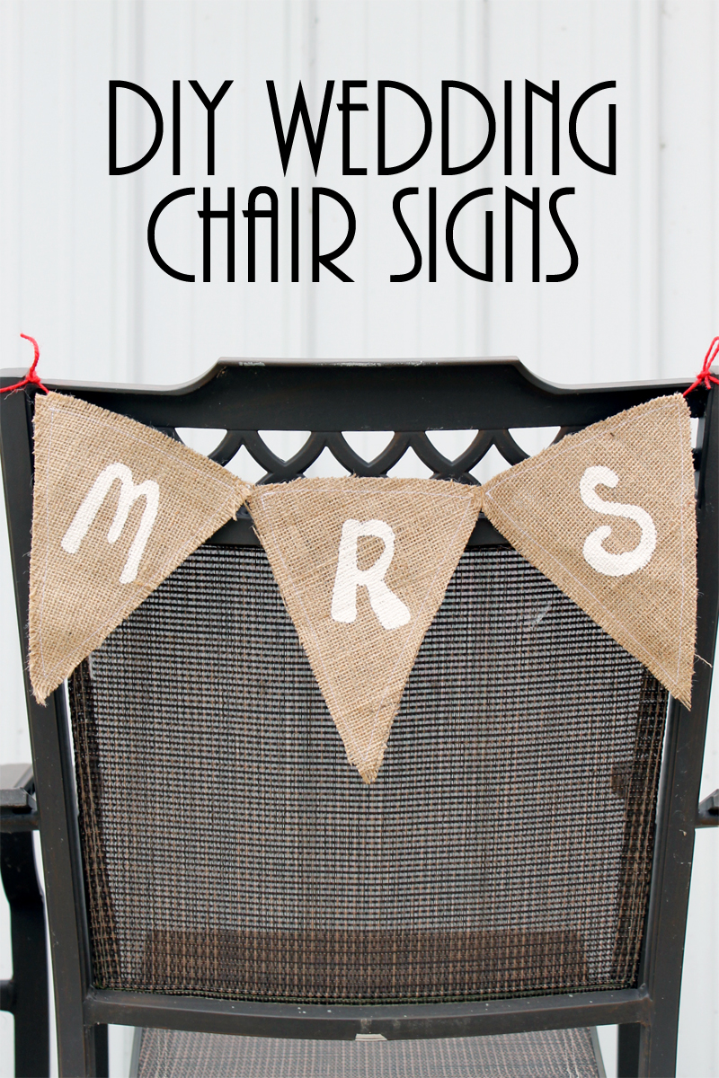 Make these Mr. and Mrs. chair signs for your DIY wedding in just minutes!