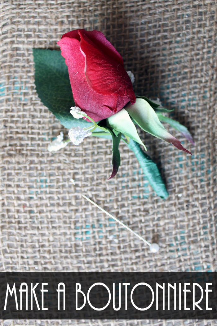 Details on how to make a boutonniere for weddings or any event!